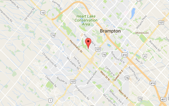 Our location is at the new field at Heart Lake Secondary School, 296 Conestoga Road, Brampton, Ontario
